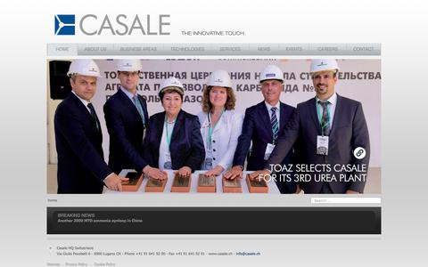 Screenshot of Home Page casale.ch - Casale SA - Home - captured Feb. 11, 2020