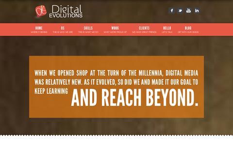 Screenshot of Home Page digitalevolutions.ae - Digital Evolutions Digital Marketing Agency - Dubai Web Development - captured Sept. 30, 2014