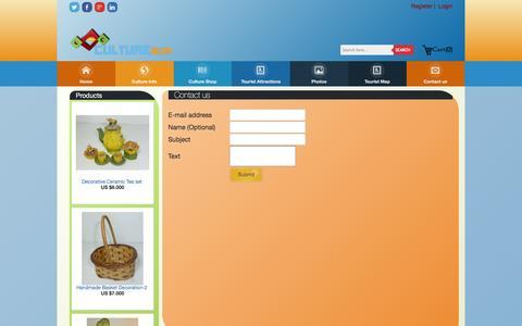 Screenshot of Contact Page culturesum.com - CultureSum -Contact us - captured Feb. 1, 2016