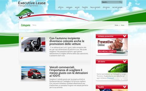 Screenshot of Press Page executivelease.it - News | Executive Lease - captured Sept. 30, 2014