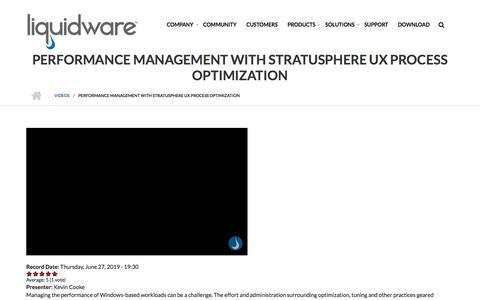 Screenshot of Team Page liquidware.com - Performance Management with Stratusphere UX Process Optimization | - captured Dec. 14, 2019