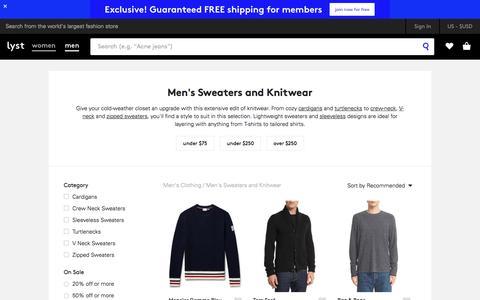 Knitwear | Men's Sweaters, Cardigans & Jumpers | Lyst