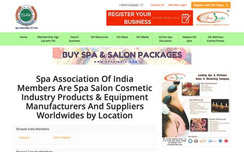 Screenshot of Locations Page spaassociationofindia.in - Find Spa Association Of India Members Are Spa Salon Cosmetic Industry Products & Equipment Manufacturers And Suppliers Worldwides by Location - Leading Spa Association of India is a collection of Spa Salon Cosmetic Clinics & Wellness Business in Indi - captured Oct. 19, 2018