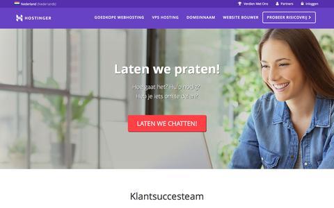 Screenshot of Contact Page hostinger.nl - Ons Bedrijf - captured July 28, 2017