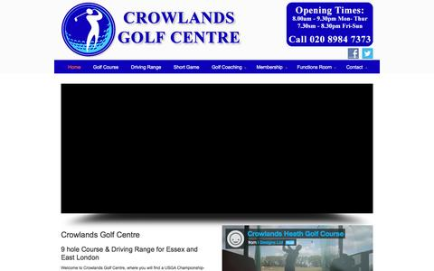 Screenshot of Home Page crowlandsheath.co.uk - Crowlands Heath Golf Club and Driving Range Romford Dagenham Essex - captured Feb. 1, 2016