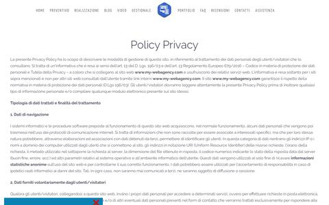 Screenshot of Privacy Page my-webagency.com - Policy Privacy - captured Sept. 29, 2018