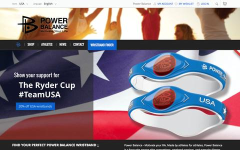 Screenshot of Home Page powerbalance.com - Performance Technology  | Power Balance - captured Sept. 23, 2014