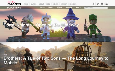 Screenshot of Press Page 505games.com - News Archives - 505 Games - captured Feb. 15, 2016