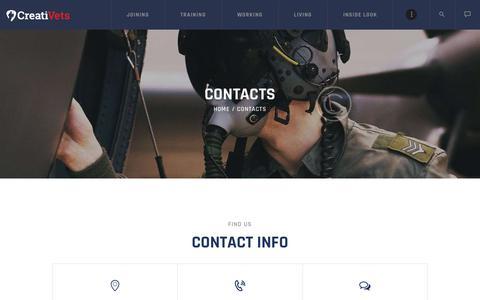 Screenshot of FAQ Page creativeterans.com - Contacts – CreatiVets - captured Sept. 29, 2018