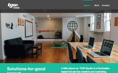 Screenshot of About Page tgwstudio.com - About | TGW Studio - captured March 23, 2016