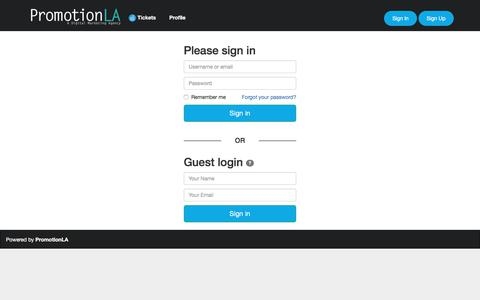 Screenshot of Support Page promotionla.com - Help-Desk - captured July 22, 2018