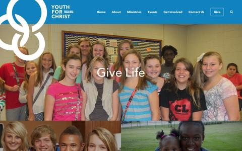 Screenshot of Home Page tuscaloosayfc.org - Home | Tuscaloosa Youth for Christ - captured Oct. 6, 2014