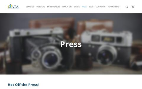 Screenshot of Press Page angelatlanta.com - PRESS - captured Oct. 4, 2018