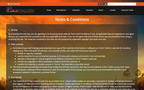 Screenshot of Terms Page intechtrailers.com - Terms & Conditions | inTech Trailers - captured Jan. 9, 2016