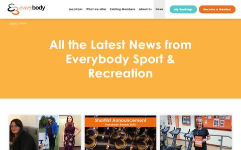 Screenshot of Press Page everybody.org.uk - News - Everybody Sport & Recreation - captured Sept. 29, 2018