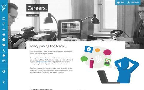 Screenshot of Jobs Page sonocent.com - Careers. |  Sonocent - captured Dec. 3, 2016