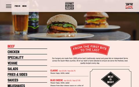Screenshot of Menu Page gbk.co.uk - GBK - captured Nov. 2, 2014
