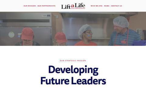 Screenshot of Team Page liftalifefoundation.org - Leadership — Lift a Life Foundation - captured July 19, 2018