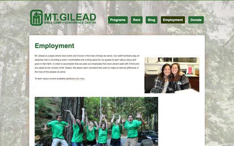 Screenshot of Jobs Page mtgilead.org - Employment | - captured Oct. 21, 2017