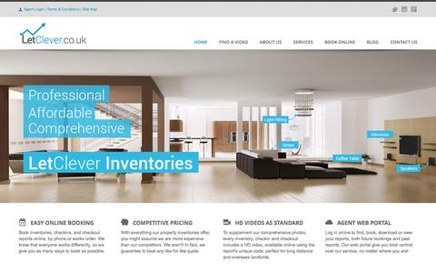 Screenshot of Home Page letclever.co.uk - Inventory Services & Check Out Reports in Manchester | LetClever - captured Oct. 7, 2014
