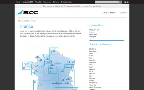 Screenshot of Privacy Page scc.com - SCC France Locations - captured Sept. 19, 2014
