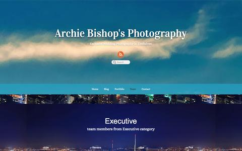 Screenshot of Team Page archiephotography.co.zw - Team - captured Oct. 4, 2014