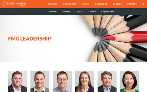 Screenshot of Team Page forsmarshgroup.com - Leadership | Fors Marsh Group - captured May 19, 2018