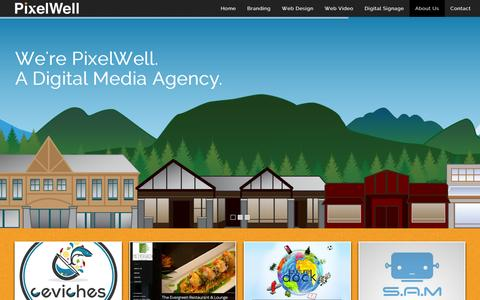 Screenshot of Home Page pixelwell.ca - PixelWell - Local Service. Global Expertise. | Responsive Web Design & Marketing studio located in Banff, Alberta - captured Dec. 9, 2015