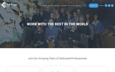 Screenshot of Jobs Page netnetweb.com - Careers - captured Nov. 15, 2018
