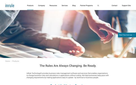 Business Rules Management Software and Services | No-Code | InRule