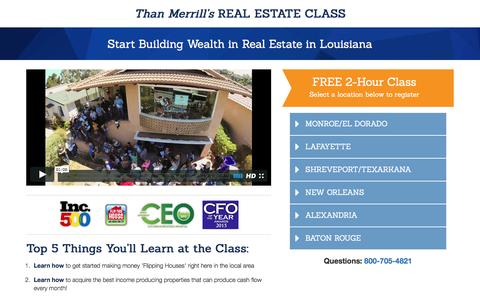 Screenshot of Landing Page fortunebuilders.com - Than Merrill's Real Estate Class - captured Dec. 17, 2016