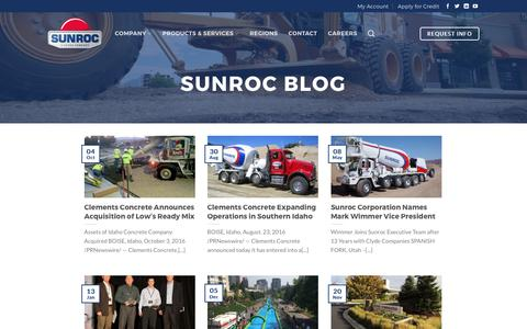 Screenshot of Blog sunroc.com - Blog - Sunroc Construction & Materials - captured June 3, 2017