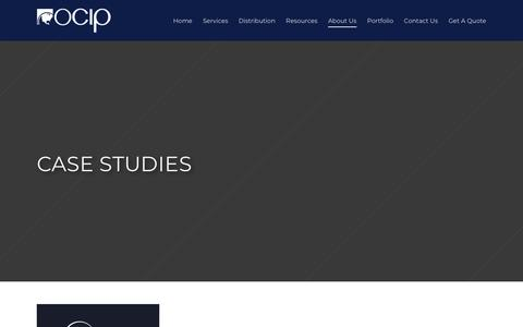 Screenshot of Case Studies Page ocip.com - Case Studies - OCIP - captured Oct. 19, 2018