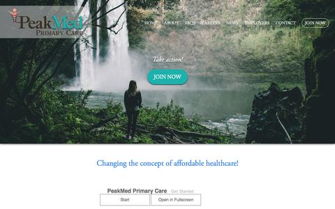 Screenshot of Signup Page peakmed.com - JOIN NOW - PeakMed - captured Oct. 2, 2014