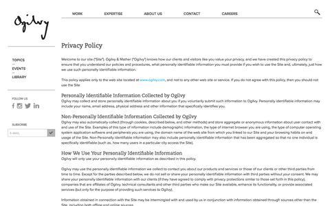 Privacy Policy | ogilvy.com