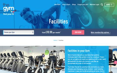 Facilities | The Gym Group