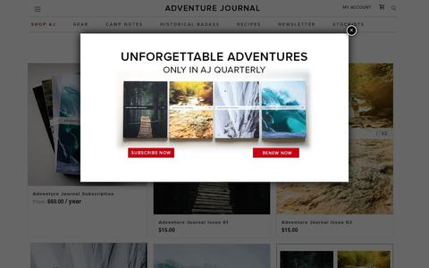Shop - adventure journal