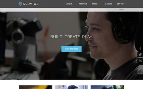 Screenshot of Jobs Page survios.com - Careers - Survios - captured Nov. 5, 2015