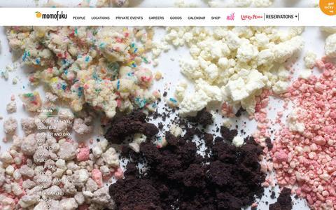 Screenshot of Home Page momofuku.com - momofuku - captured Oct. 17, 2015