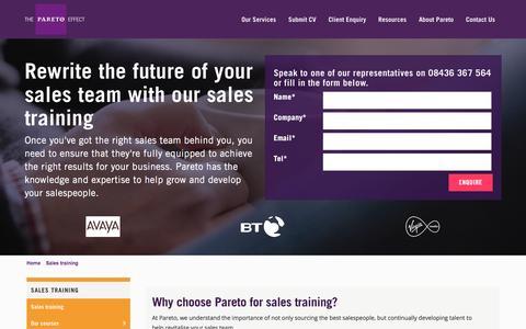 Sales Training & Sales Training Courses | Pareto