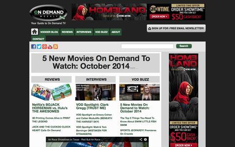 Screenshot of Home Page ondemandweekly.com - On Demand Weekly - captured Oct. 7, 2014