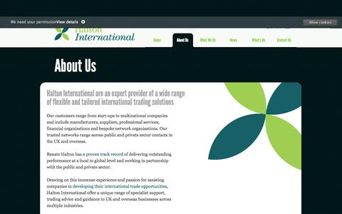 Screenshot of About Page haltoninternational.com - About Us | Halton International - captured Sept. 27, 2014