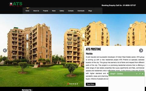 Screenshot of Home Page ats-greens.co.in - ATS Greens,Noida,Yamuna Expressway,Greater Noida,New Launch Projects - captured Feb. 12, 2016