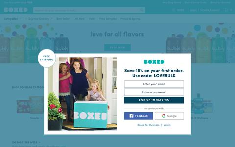 Screenshot of Home Page boxed.com - Wholesale | No Membership | Save Money, Time, & Gas | Boxed - captured June 4, 2019