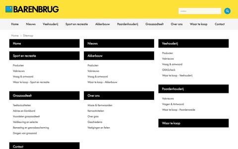 Screenshot of Site Map Page barenbrug.nl - Barenbrug Nederland // Sitemap - captured Oct. 10, 2017