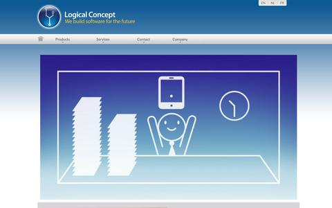 Screenshot of Products Page logicalconcept.eu - Interim and recruitment agency software in the cloud. - captured Jan. 30, 2016