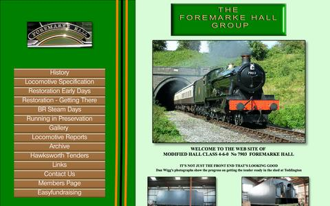 Screenshot of Home Page 7903foremarkehall.co.uk - Home - captured Oct. 10, 2015