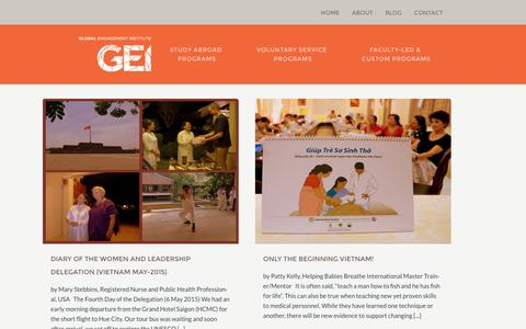 Screenshot of Blog global-engagement.org - Blog - Global Engagement Institute - captured Jan. 29, 2016