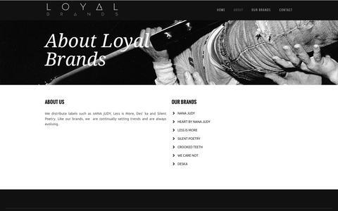 Screenshot of About Page loyalbrands.com.au - About Loyal Brands - captured Sept. 30, 2014