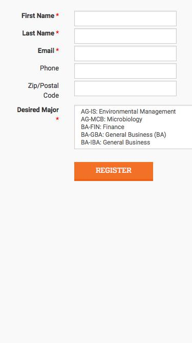 Screenshot of Landing Page  ufl.edu -